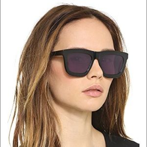 Karen Walker Deep Worship Black Sunglasses 55mm